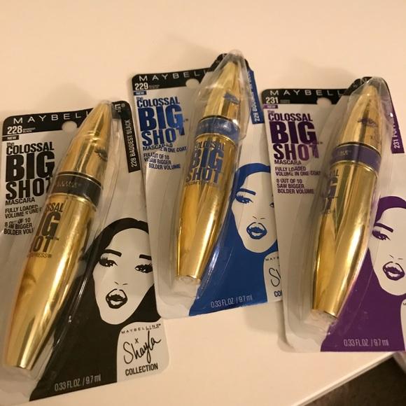 19790ef1ba5 Maybelline X Shayla colossal big shot mascaras. M_5a555463b7f72b14fb06d9db